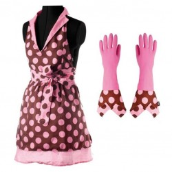 KITCHEN APRON AND GLOVES...